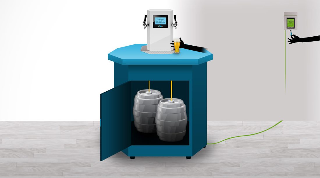 Mobile Beer Table